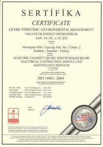 ISO 14001:2004 ÇEVRE YÖNETİM SERTİFİKASI
